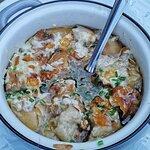 Breznsuppe! Sehr deftige Suppe mit Breze und Käse. Sehr gut!
