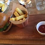 Burger and chips - one of the few recognised 'meals' in a sea of tapas