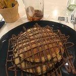 Tortitas con sirope de chocolate