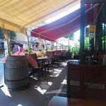 The lovely terrace at La Cuchina