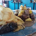 ENTRECOT LOMO ALTO (Salsa Chutney de MANGO y papas panaderas)