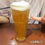 冰奶泡綠茶:可以調整甜度冰塊,這點很不錯。