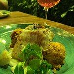 Aszaltparadicsomos bulgur, karfiol pürével és grillezett tőkehallal