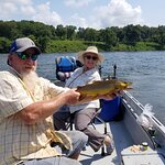 A nice brown trout caught with Doug and Cotter Trout Dock