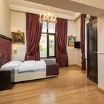 Executive room with view to Calea Victoriei and Nicolae Iorga's park.