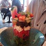 Bowl Mykonos: pastèque, salade, fêta, tomates
