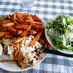 chicken breast & sweet potato fries