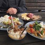 Dragon's tongues, buckwheat pancakes, kung pao and rice pudding!