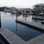 View of marina from our table
