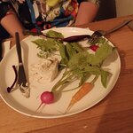 Whipped bagna cauda (anchovy and garlic) with vegetables