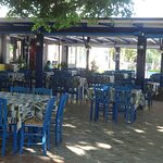 Galazio Limani Restaurant at the port of Moudros - Lemnos, Greece