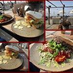 Club Sandwich & Broodje Carpaccio