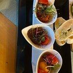 Vorspeise Teller mit der Tomatenbutter