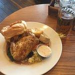 Chicken roast lunch