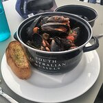 Local Mussel Pot lunch