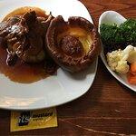 Wonderful Sunday roast with an amazing Yorkshire pudding!