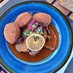 Venison with potato dumplings