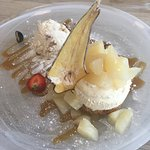 Pear and toffee cheesecake. Five star *****