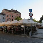 CZ: Jindřichův Hradec; Filmtheater und Restaurant Střelnice, Masarykovo náměstí