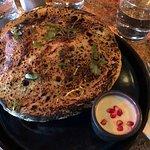 Chicken biryani with dough lid