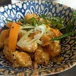 Media ración de tempura de langostinos