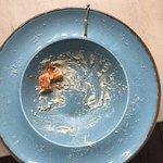 Оставила на тарелки неготовую рыбу. Все остальное съела- была голодная.