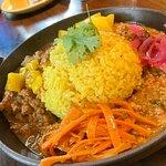 昼食:マトンカレー