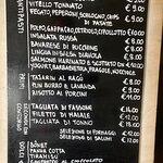 Tavle menu.