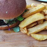 Burger with cod fillet