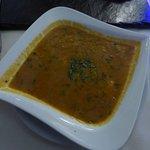 Die leckere Mulgathwani Suppe.