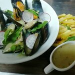 Mussels - unusually plump and tasty for the middle of South Africa !