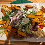 El Mexico Salat, Country potatoes und sour cream dip