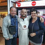 My wife and I together with the chef @Ylli Elbasan