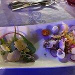Salade de homard breton tiède et vinaigrette de truffe noire