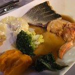 Duo de homard et poisson du marché