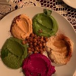 Different types of dips, all delicious