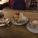 Amazing coffee and advocat cake