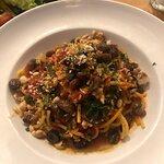 Delicious Veganesca Spaghetti