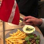 Flag on table