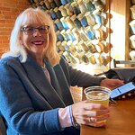 Donna enjoying her Sparkle Lager