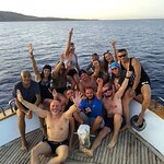 Hurghada after diving CMAS group