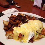 Tom's Benny.......Grilled cheese sandwich with chipotle mayo, crispy bacon, poached egg, and hol