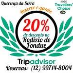 Reserve e ganhe 20% de desconto no Rodízio de Fondue reservas: (12) 99714-8004