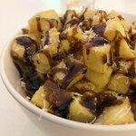 Beef dripping potatoes with pecorino and balsamic.