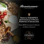 Restauracja Renaissance w hotelu Radisson Blu w Szczecinie trzecią najlepszą restauracją w Polsc