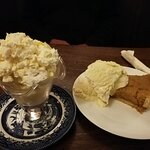 Scrummy desserts - lemon meringue sundae and treacle tart
