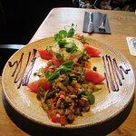 Salade geitenkaas met spekjes