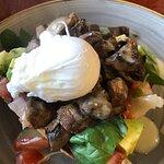 poach egg mushrooms