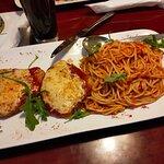 Schnitzel überbacken mit Spagetti