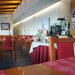 Aspeto da sala de refeições